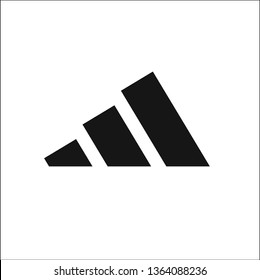 Triangle Adidas vector icon illustration logo black vector. in white background