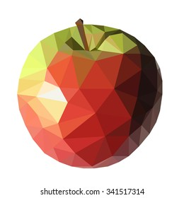Triangle Apple Vector Illustration