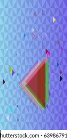 triangle art pattern