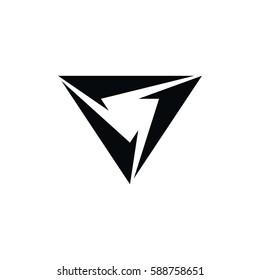 triangle art theme logo logotype