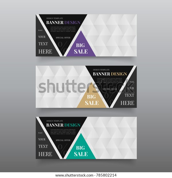 Triangle Banner Design Templates Web Banner Stock Vector Royalty Free 785802214