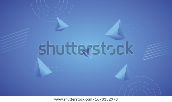 Triangle Blue Abstract Background 3d Wallpaper Stock Vector Royalty Free 1678132978