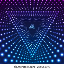 Triangle Border with Light Effects. Vector illustration for your business presentations.