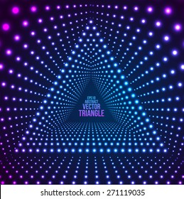 Triangle Border with Light Effects. Vector illustration for your party flyers.