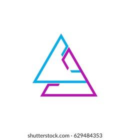 Triangle CA letter logo design