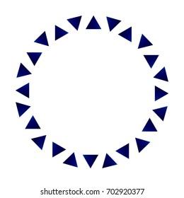 triangle circle frame ceramic, porcelain round design vector illustration