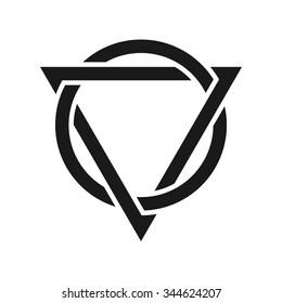 triangle and circle logo vector.