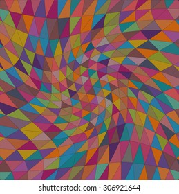 Triangle colorful pattern. Print with colorful diamonds. Geometric shapes background.