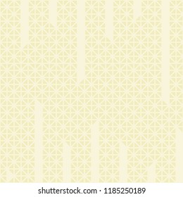 Triangle cuts vertical line pattern vector. Mosaic cream and light cream background. Design print for textile, wallpaper, background. Set 4
