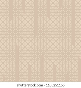 Triangle cuts vertical line pattern vector. Mosaic beige and brown background. Design print for textile, wallpaper, background. Set 6