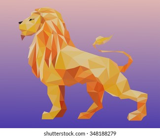 triangle decorative lion illustration