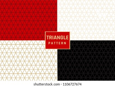 TRIANGLE DIFFERNT COLOUR SHAPE PATTERN