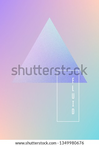 Triangle Fluid Hologram Shapes Gradient Triangles Stock