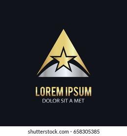 triangle gold star logo
