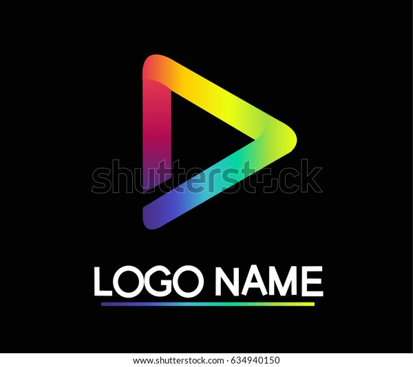 Triangle Gradient Logo vector by illustration.