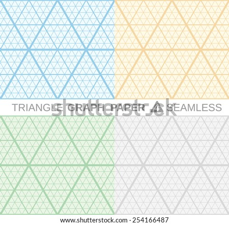 triangle graph paper set 4 seamless stock vector royalty free
