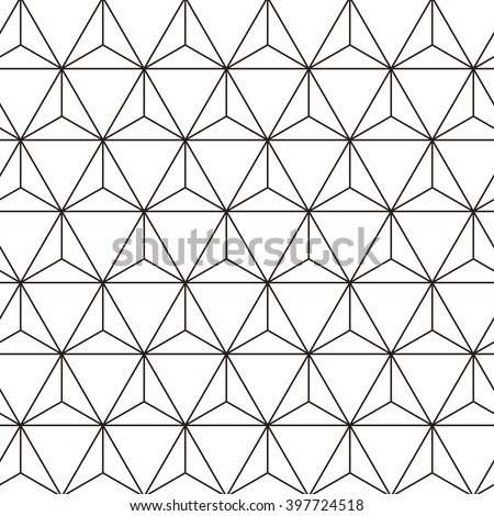 triangle grid design vector seamless pattern stock vector royalty