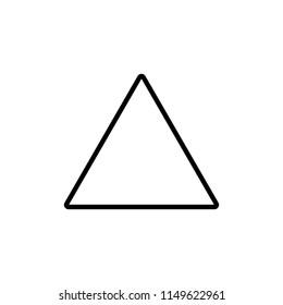 Triangle icon. Flat design. Vector illustration.
