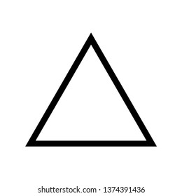 Triangle Icon. Shape Illustration As A Simple Vector Sign & Trendy Symbol for Design, Websites, Presentation or Application.