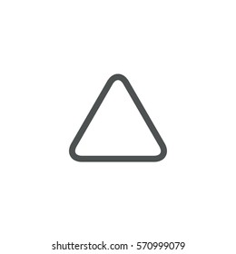triangle icon. sign design