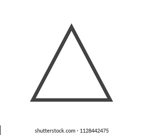 Triangle icon. Vector triangle form.  Outline triangle vector.