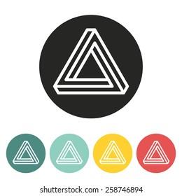 triangle icon.vector illustration.
