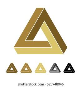 Triangle Infinity vector Logo Template Illustration Design. Vector EPS 10.