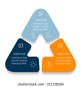 triangle infographic design templates with 3 parts triangle banner with options template for diagram
