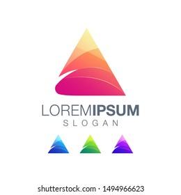 triangle inspiration color logo design
