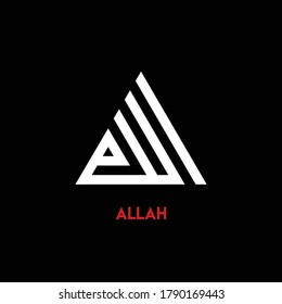 Triangle Kufi Calligraphy of Allah