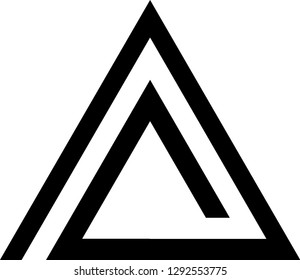 triangular greek letters triangular letter letter alpha triangle sticker zazz 10166 | triangle line logo set icon 260nw 1292553775