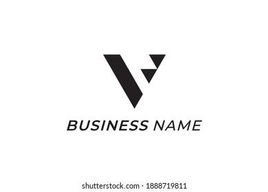 triangle logo design and letter V
