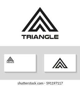 Triangle logo design. Vector