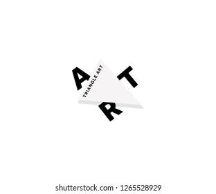 Triangle logo design. Vector art traingle logo template. Art logo