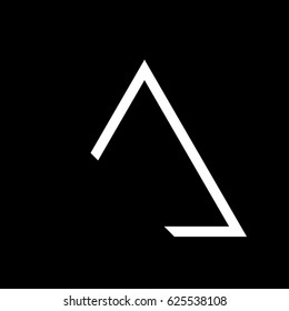 Triangle logo gestalt brand