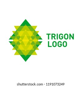 Triangle logo icon. Vector logotype template isolated on white background.