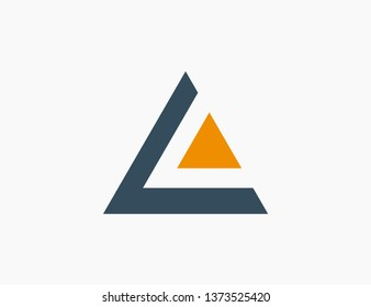 Triangle Logo Template Icon Vector Illustration
