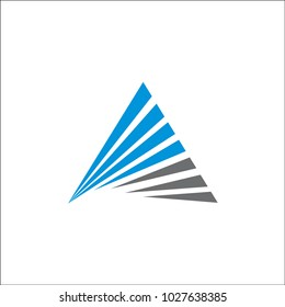 triangle logo vector abstract