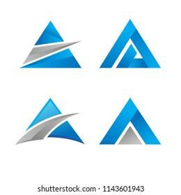 Triangle logo vector icon