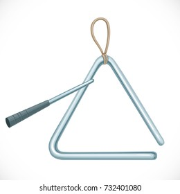 Triangle musical instrument isolated on a white background