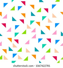 triangle party coloful seamless vector pattern texture