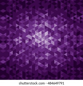Triangle pattern, background, vector illustration
