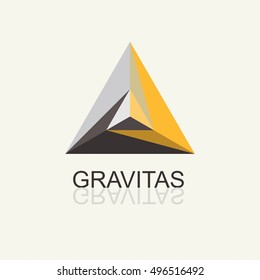 Triangle Pyramid Abstract Icon.Vector template for the logo, emblem