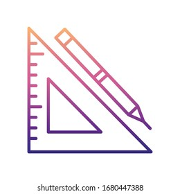 triangle ruler nolan icon. Simple thin line, outline vector of Measuring Instruments icons for ui and ux, website or mobile application