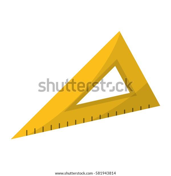 triangle ruler utensil icon