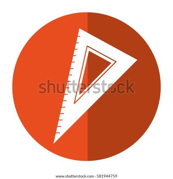 triangle ruler utensil shadow