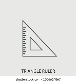 Triangle ruler vector icon illustration sign