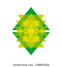 Triangle shape abstract intersection logo. Vector logotype template.