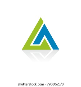 triangle shape company logo
