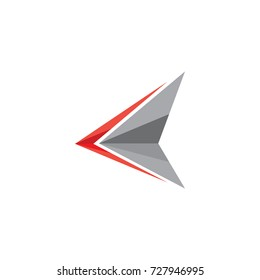 triangle sharp arrow logo vector
